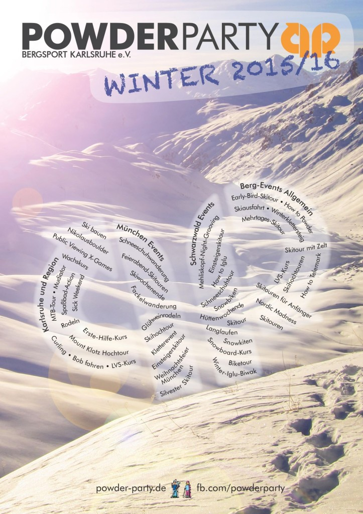 Eventposter Winter 2015-16